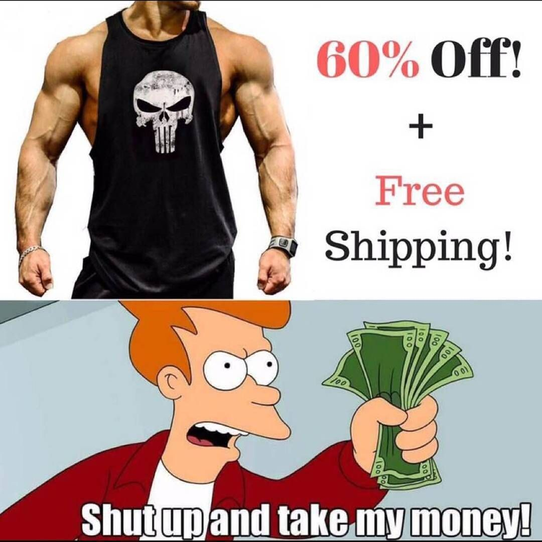 Get yours now for 60% Off from @gymbeastmodeshop with Free shipping  . Click link in their bio  @gymbeastmodeshop . Tag someone to get this for you . Dont miss the chance Only few hours left! . They Ship Worldwide  .Grab yours now from: www.gymbeastmode.com  . @gymbeastmodeshop  @gymbeastmodeshop  @gymbeastmodeshop  #free #fitness #bodybuilding #fitness #hotdeals  #fitnessfashion #fitnessgear #punisher #tanktop #skulltanktop #stringerback #punishertanktop  #beastmode #gymbeastmode  #sale