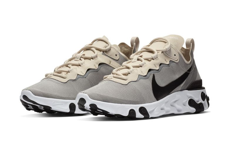 2c2a0631d17 Nike React Element 55 Goes Neutral in Cream and Light Grey  thatdope   sneakers