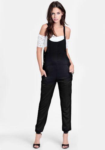 Jump the Gun Buttoned Overalls #threadsence #fashion