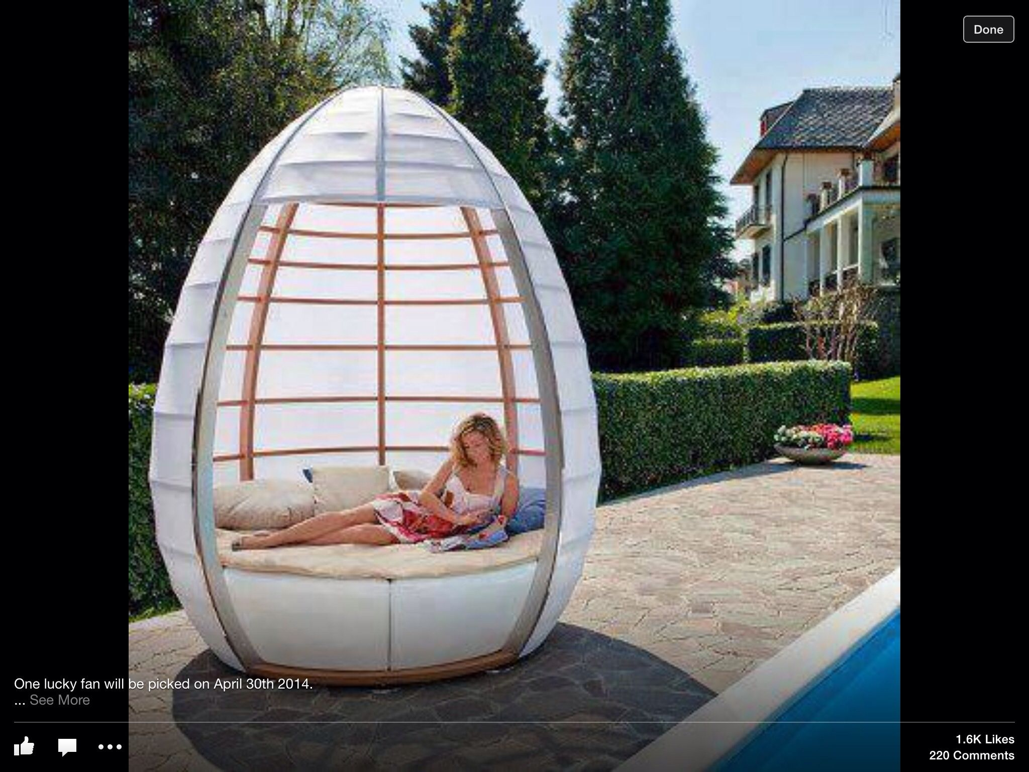 Egg seat for garden Outdoor furniture, Outdoor, Outdoor bed