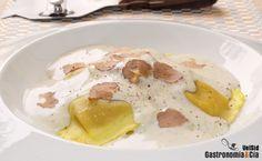 Ravioli De Boletus Con Salsa De Trufa Blanca Receta Recetas De Comida Salsa Para Pasta Recetas De Pastas