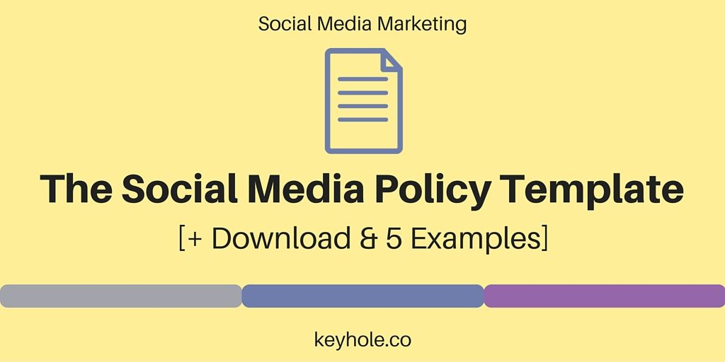 The Social Media Policy Template Download 5 Examples Social