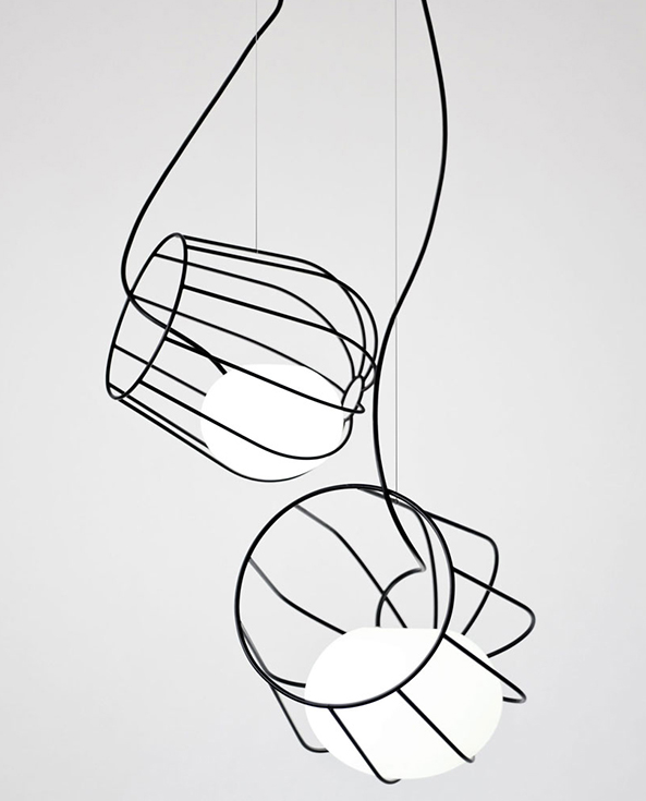 Flexible Silicone Shade Within Wire Cage