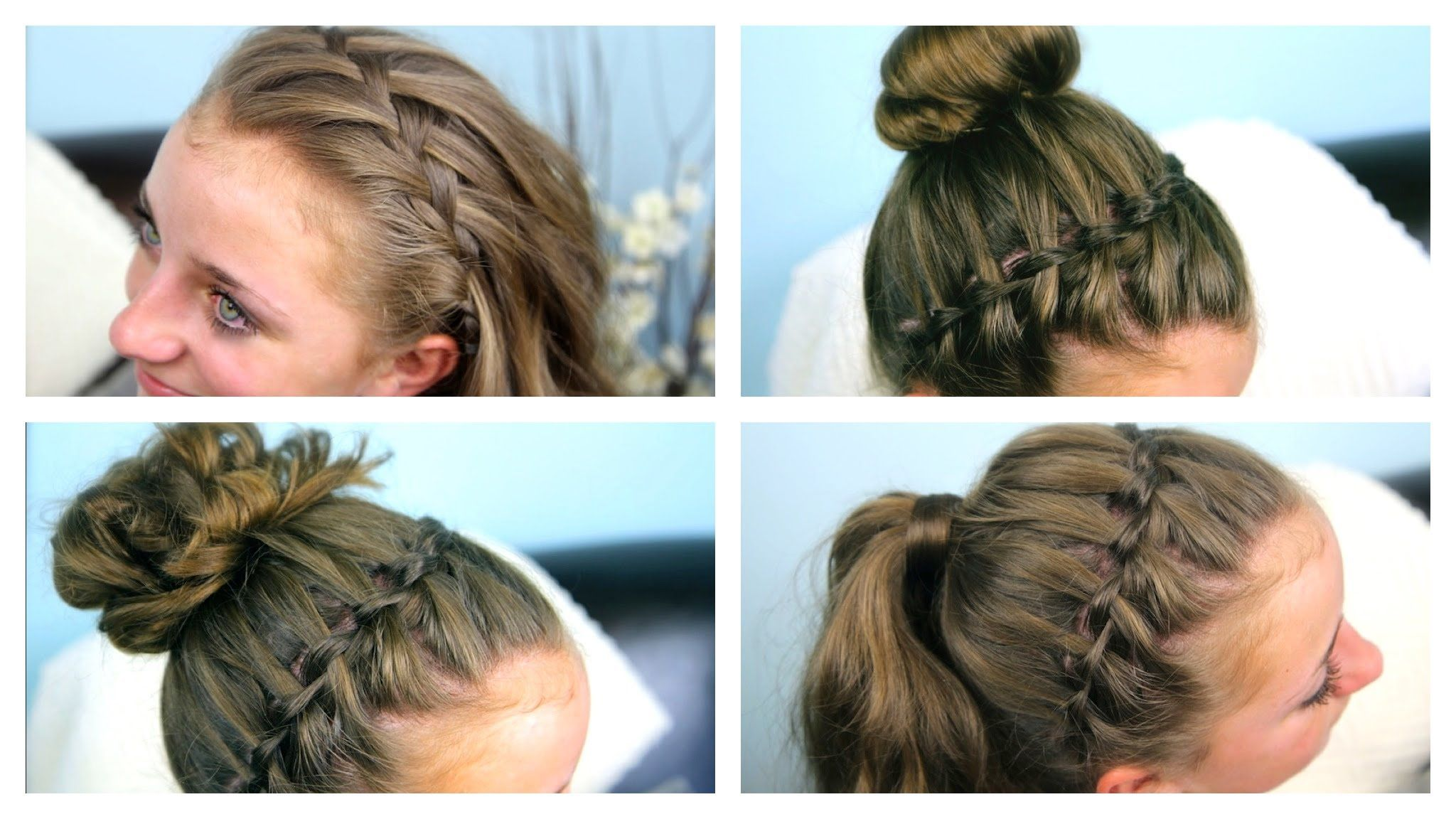 Waterfall braid combo cute girls hairstyles places to visit