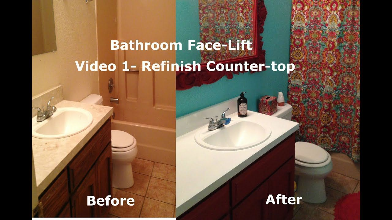 Resurface Bathroom Countertop In 2020 With Images Painting