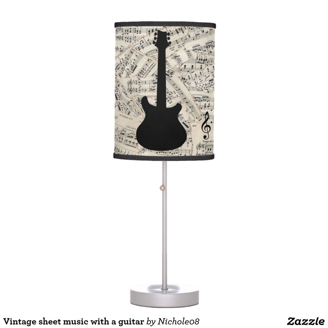 Vintage sheet music with a guitar table lamp vintage sheet music vintage sheet music with a guitar table lamp aloadofball Image collections