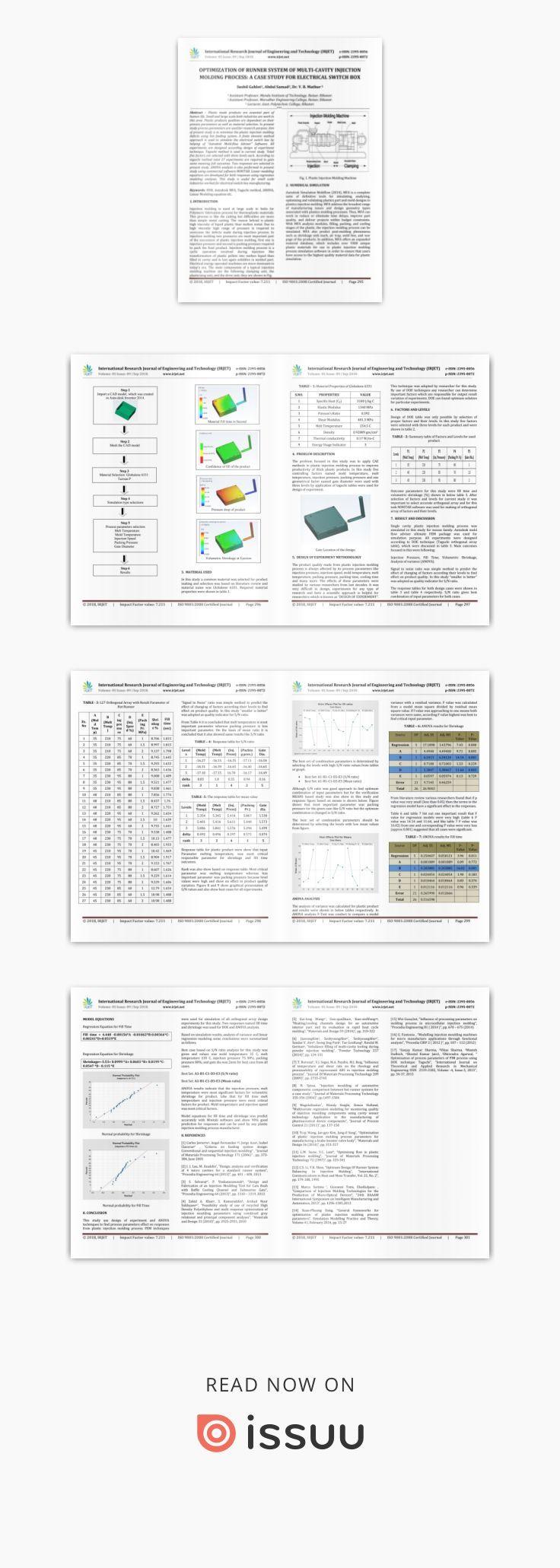 IRJET- Optimization of Runner System of Multi-Cavity