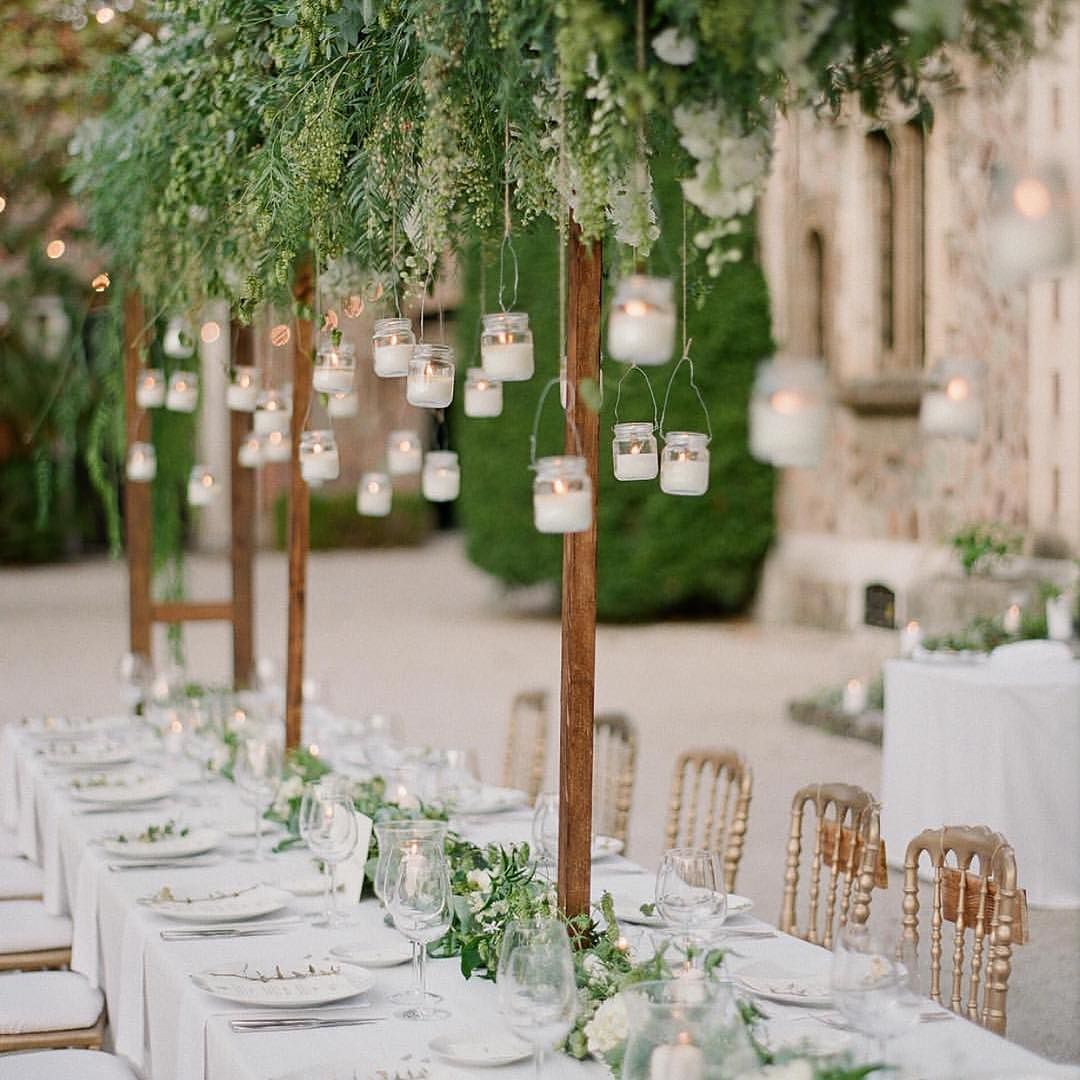 cool vancouver wedding Romantic outdoor wedding, less flower but still striking #greens #outdoors #wedding #reception #tabledecor by @wedofairytales  #vancouverflorist #vancouverwedding #vancouverwedding