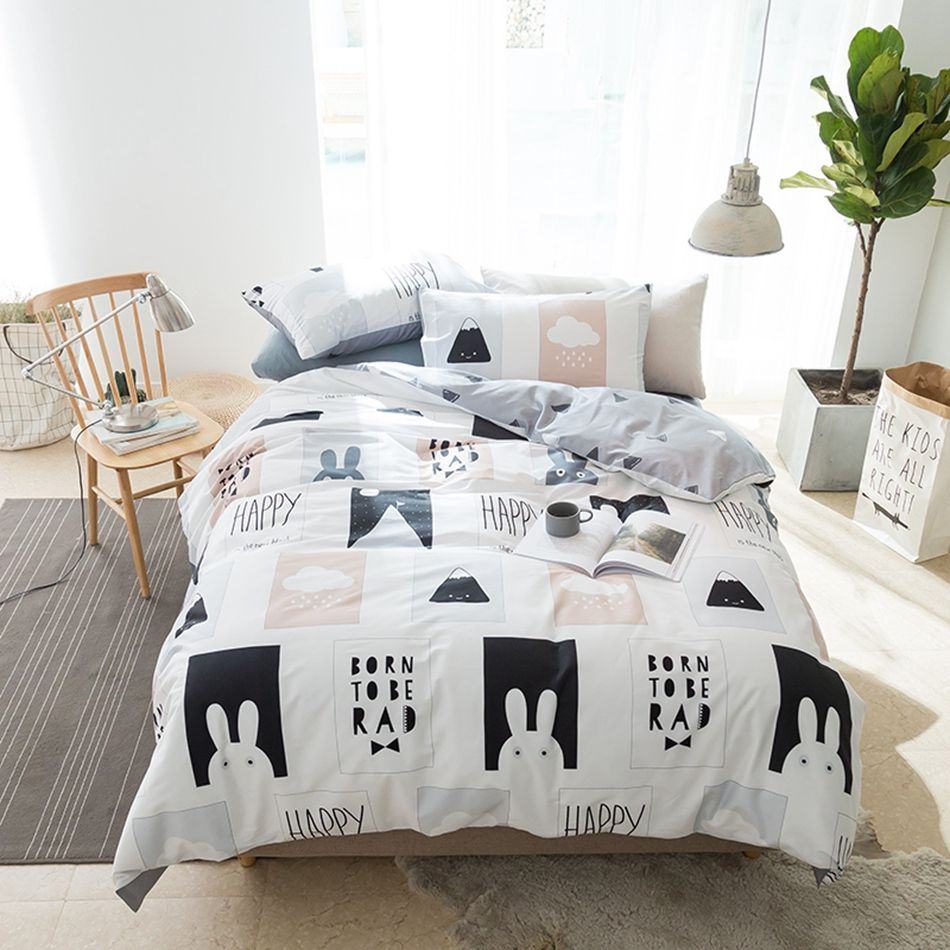 Black And White Duvet Cover Set Twin Queen King Size