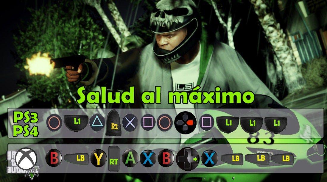 Salud Al Máximo En Gta 5 Trucos Para Gta V Trucos De Gta 5 Trucos De Gta