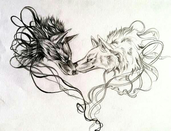 Wolf Kiss Two Wolves Tattoo Wolf Tattoos For Women Dog Tattoos