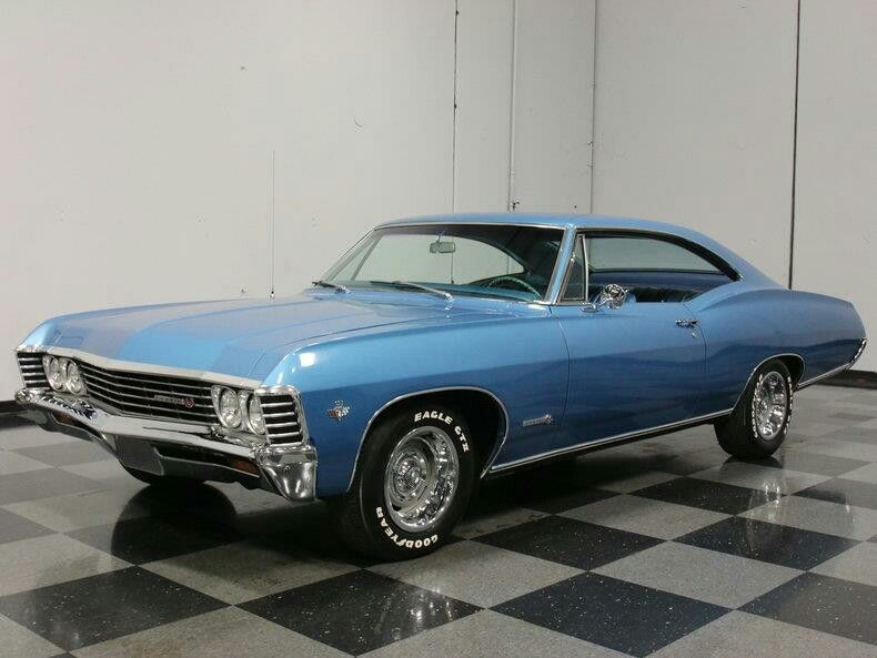 Blue 1967 Chevy Impala Maintenance Restoration Of Old Vintage Vehicles The Material For New Cogs Casters Gears Chevrolet Impala Muscle Cars 1967 Chevy Impala