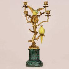Bela cantando no estilo árvores de vela, Cobre de luxo e cerâmica castiçal, Porcelain casa decoraiton(China (Mainland))
