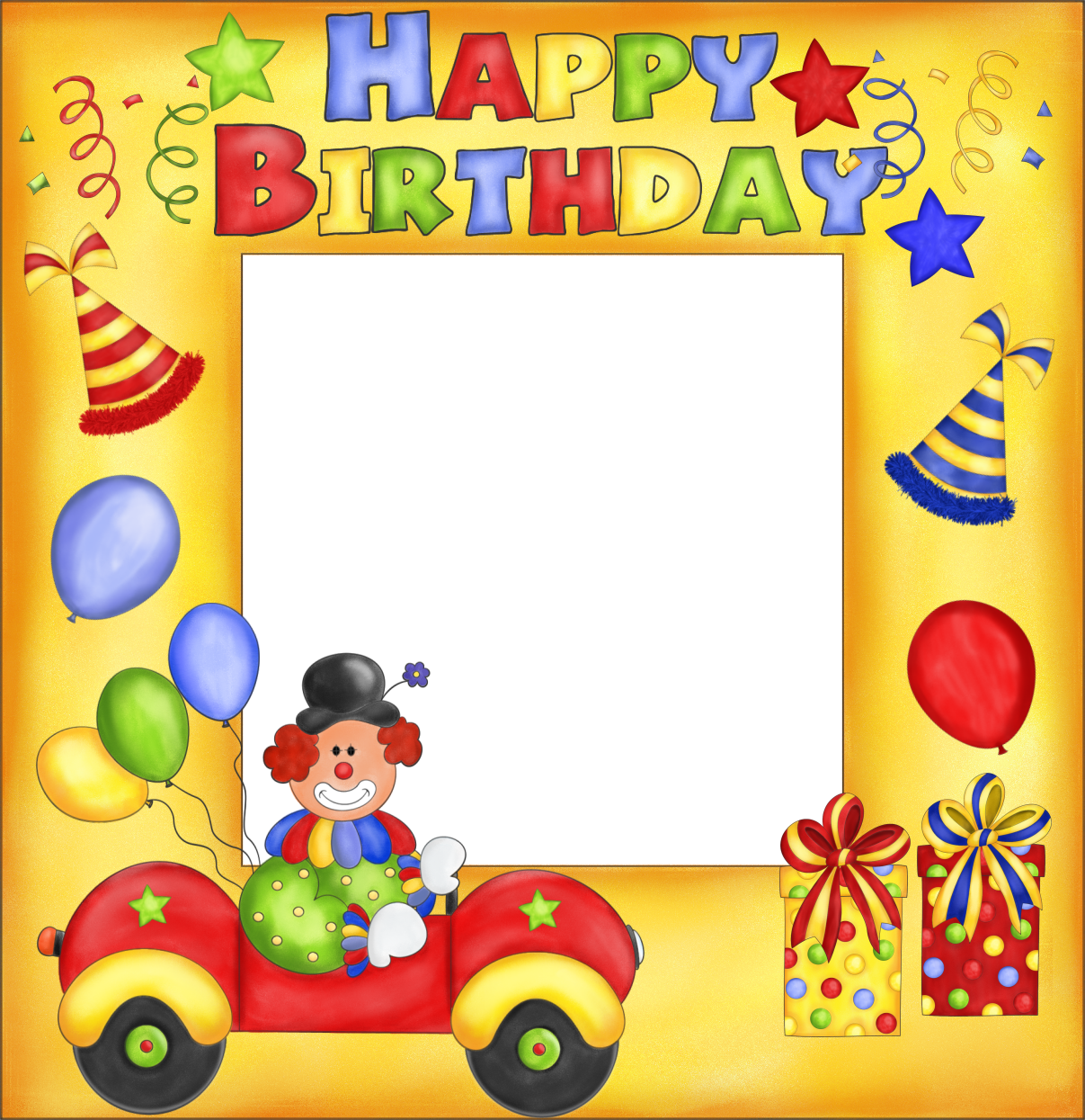 images of myspace babys first birthday clipart – Clown Birthday Cards