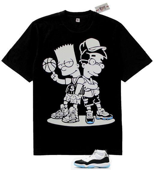 77bfd8990b3577 Fnly94 So Icey Boyz Black White xi t-shirt for air Jordan 11 Retro Concord   fashion  clothing  shoes  accessories  mensclothing  shirts (ebay link)