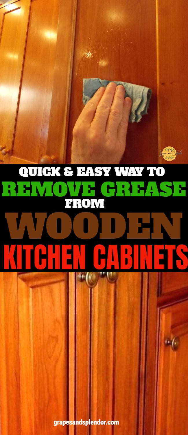 Best Way To Clean Your Kitchen Cabinets Without Hurting Them Wooden Kitchen Cabinets Wooden Kitchen Kitchen Cabinets