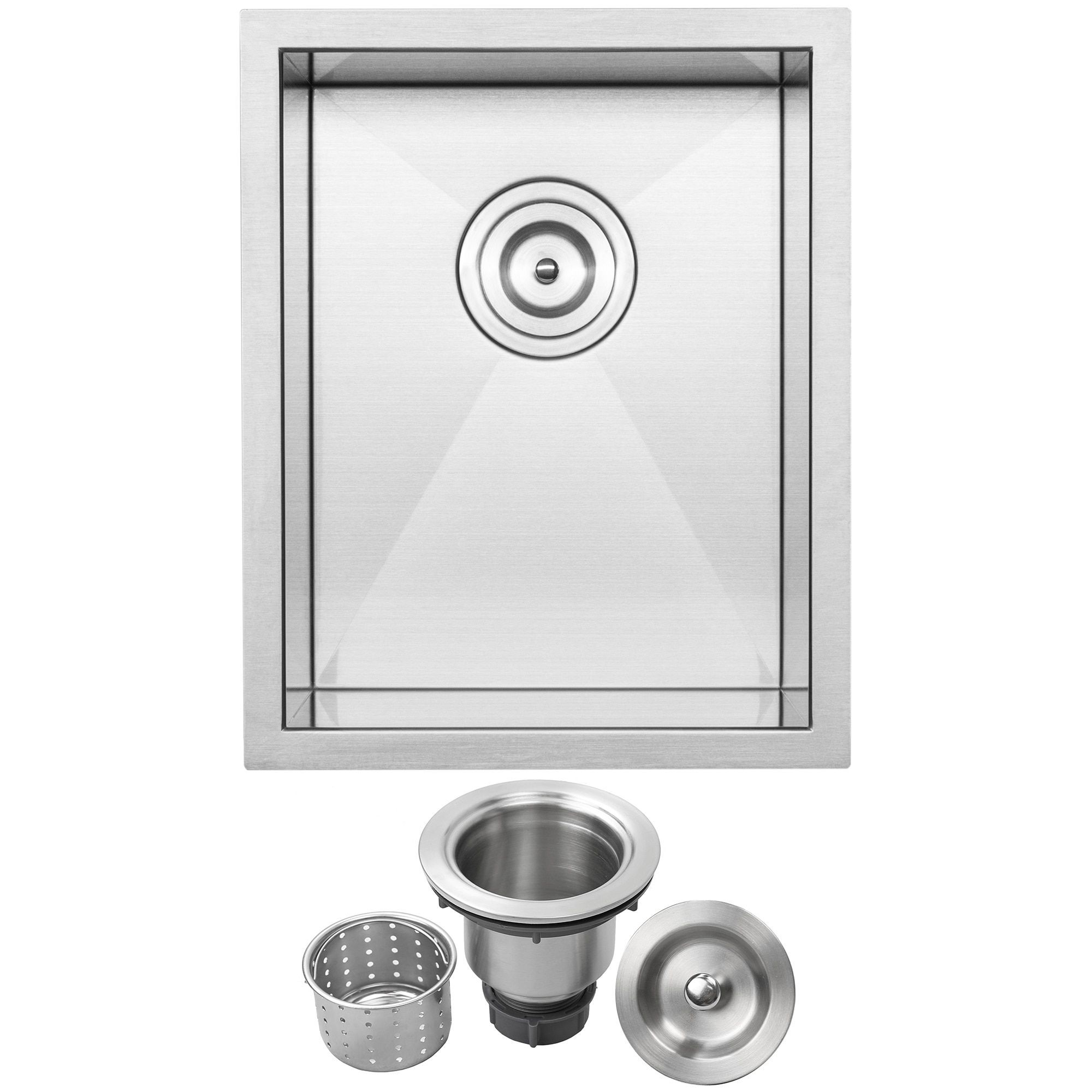 12 Ticor S3610 Pacific Series 16 Gauge Stainless Steel Undermount Single Basin Zero Radius Kitchen And Bar Sink Bar Sink Stainless Steel Bar Brushed Stainless Steel