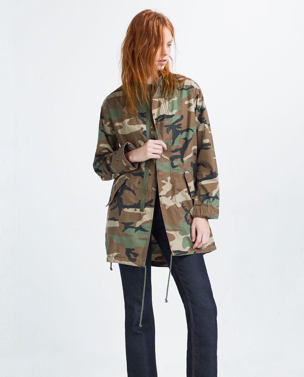 Veste femme camouflage zara