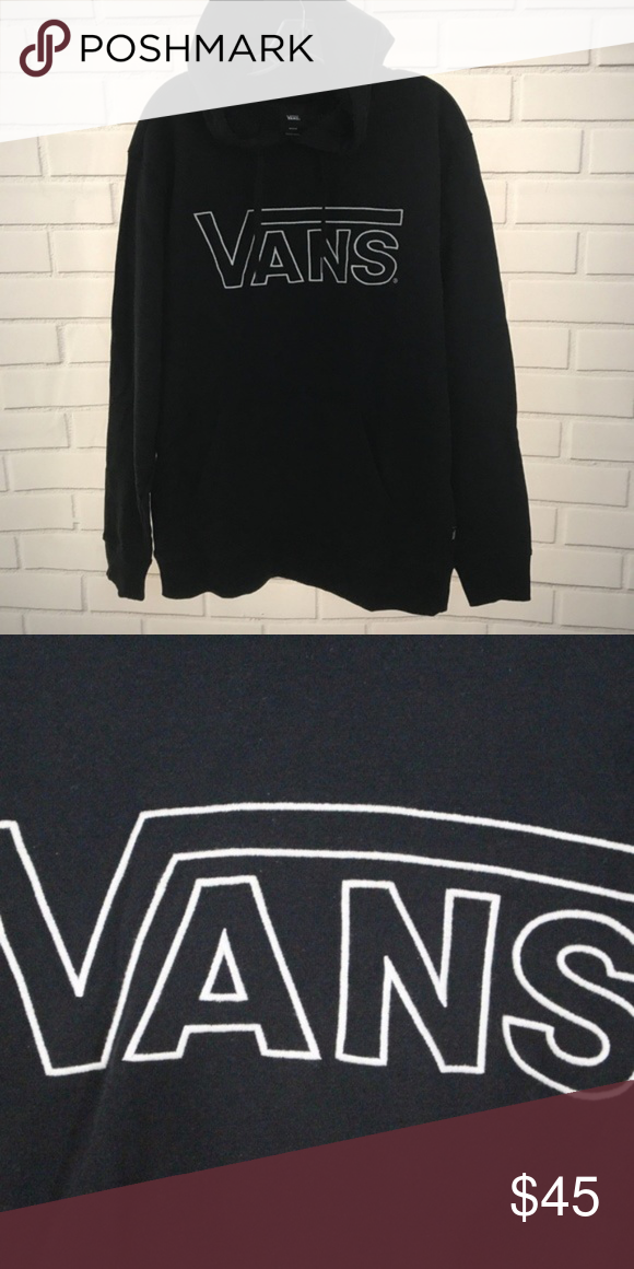 ea365f32 VANS Men Outline Drop V Pullover Hoodie Size M Condition: New with tags: A
