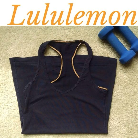 Lululemon Cool Racerback tank Used but in good condition Lululemon Cool Racerback tank. Color is inkwell (navy) - hard to capture in photo. These tanks are lightweight and are so comfortable! I used to buy these all the time, and then switched to the Power Y tanks so getting rid if my remaining CRBs. Inside tag is ripped out but I always bought these in a size 4. lululemon athletica Tops Tank Tops