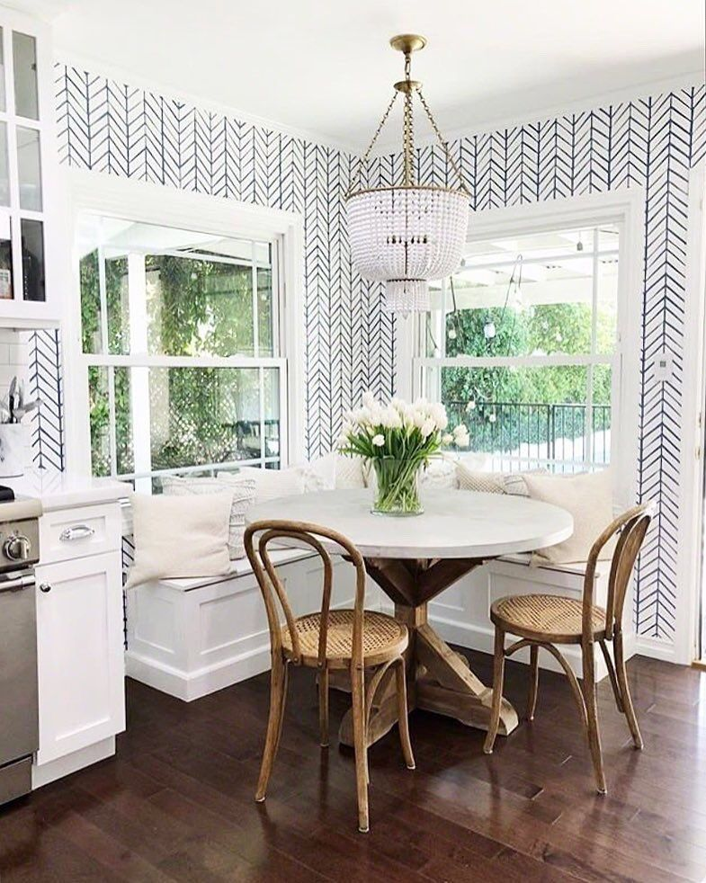 happily Dining Room Small Farmhouse Dining Room