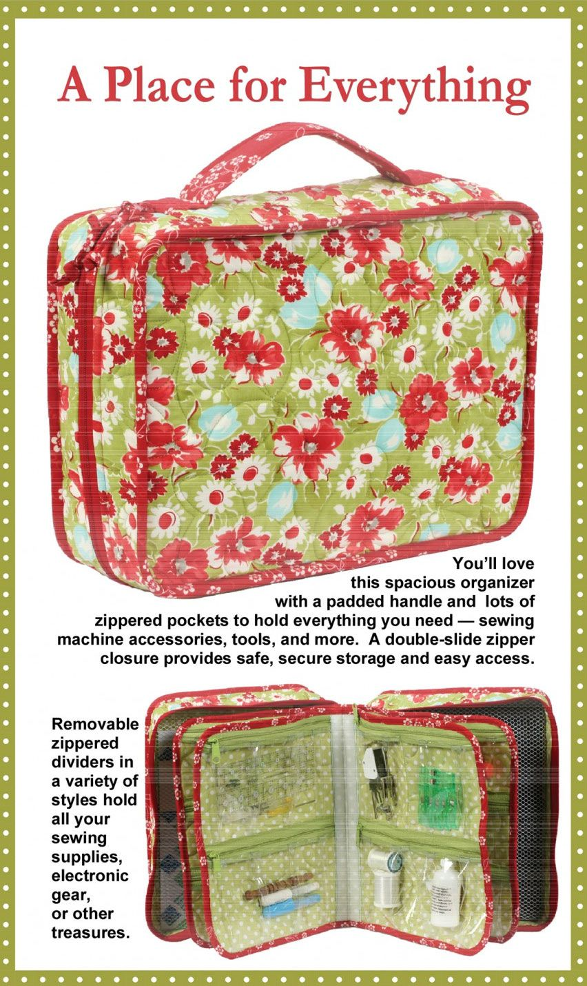 A Place For Everything Sewing Pattern By Annie Unrein