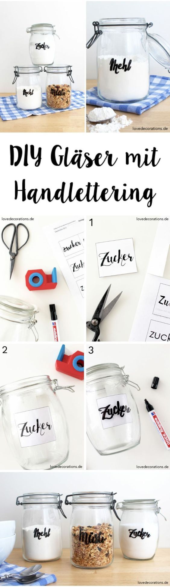 Photo of Label DIY glasses with hand lettering and a little bit of the beginning of my blogger life – Love Decorations