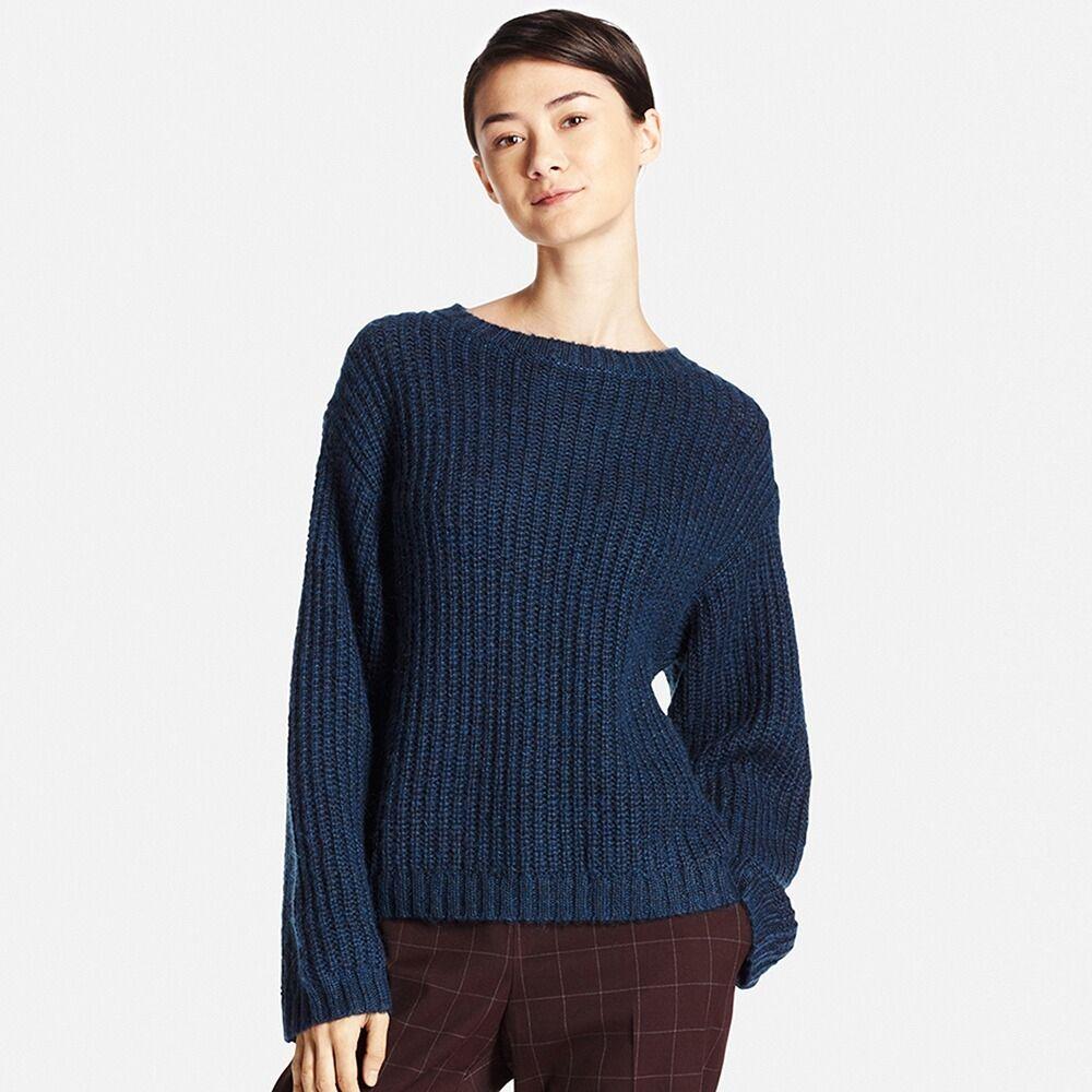 WOMEN Mohair Blend Oversized Sweater