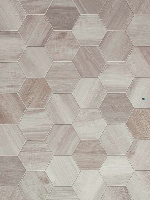 Rubiera Urban Wood 10x11 Hexagon. Also available in 6x36 ...