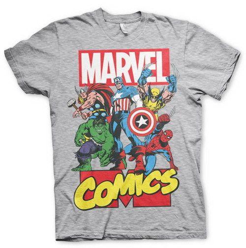 Marvel Logo Characters Camiseta para Ni/ños