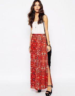 Fallen Star Maxi Skirt In Moroccan Carpet Print    cfs  summer shoot ... ed604736bdfe