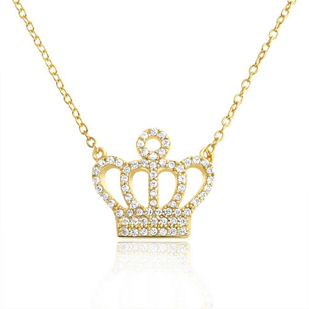 necklace princess kings pendant s kette en neg tesho product gg round crown