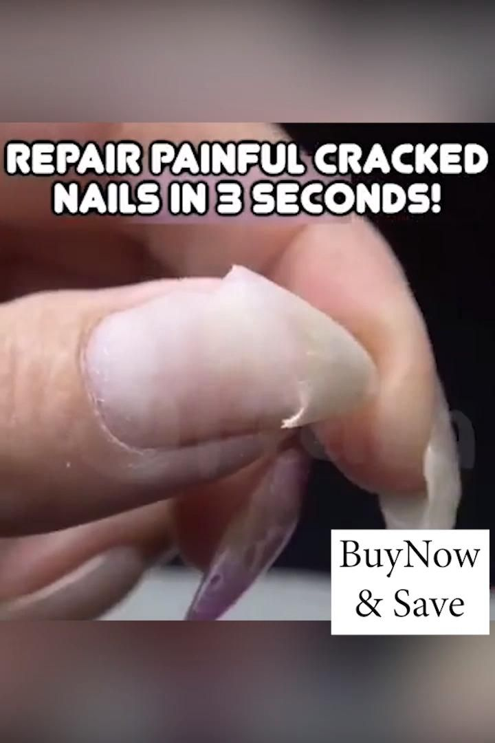 Instantly repair and protect cracked nails!💅🏻 Prot