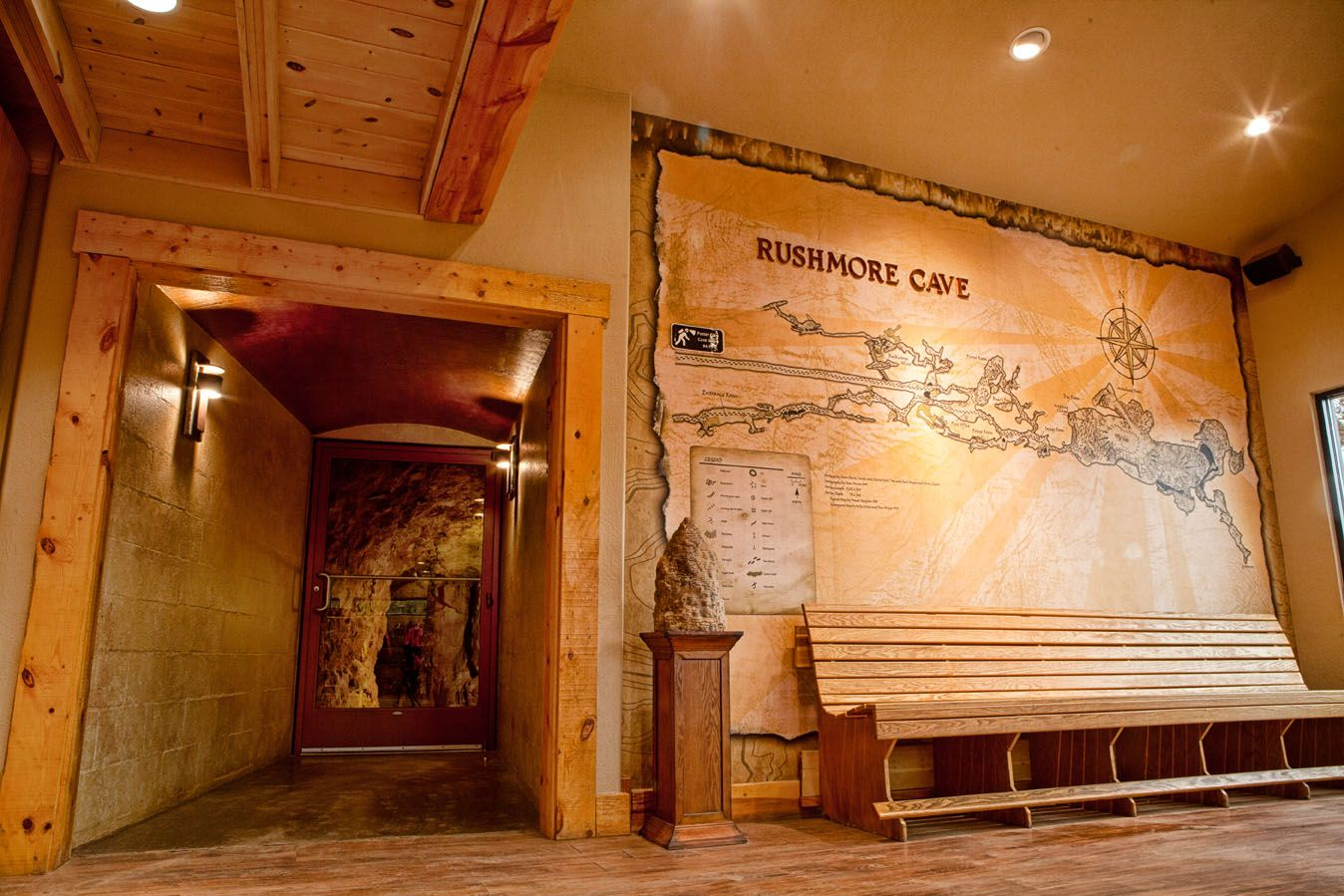 First discovered by miners in the 1800's, Rushmore Cave has grown in size and passages are still being explored.
