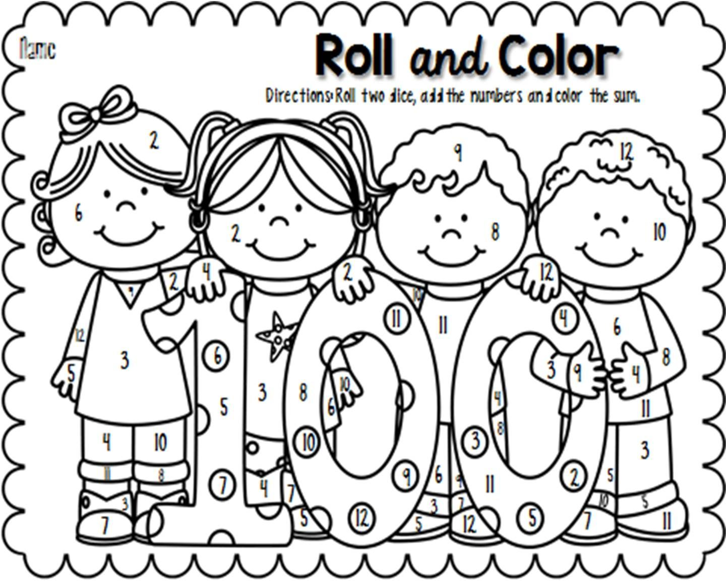freebie celebrate the 100th day of school by having students 100 Days of School Coloring Sheets 100 Days Smarter Coloring Page