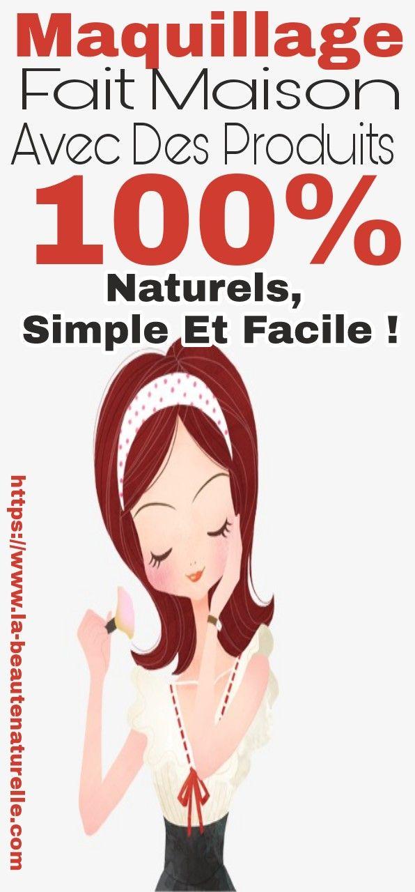 Maquillage fait maison avec des produits 100% naturels, simple et facile !