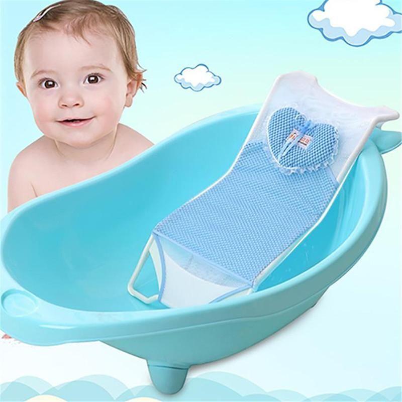 Pink Blue Newborn Bath Seat Mat Non-Slip Baby Bath Protection | new ...