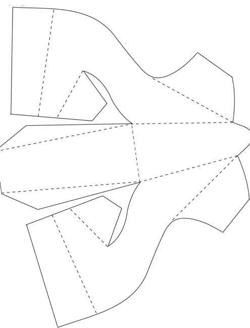 Шаблон туфельки из бумаги для открытки, отправить