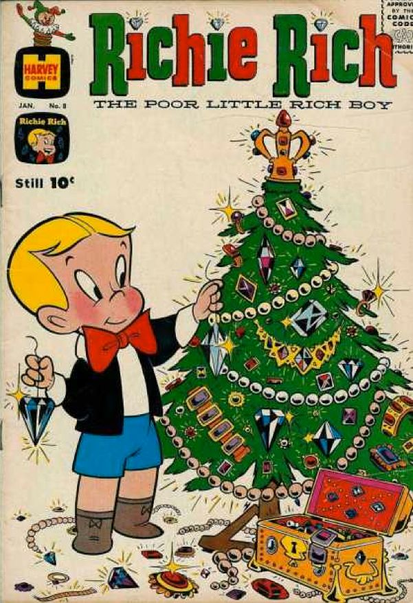 Richie Rich Now That S A Christmas Tree Christmas Comics Vintage Comic Books Vintage Comics