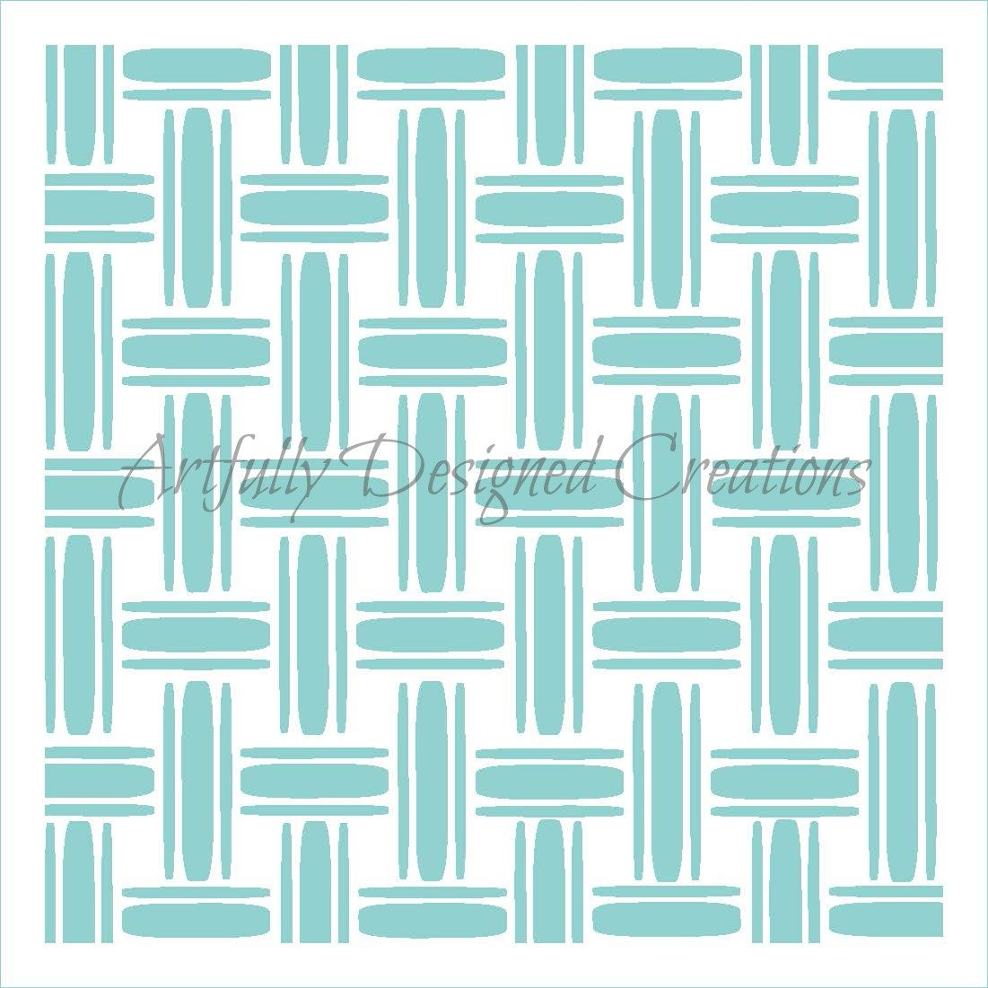 Basket Weave Double Cookie Stencil | ADC - Misc. Stencils ...