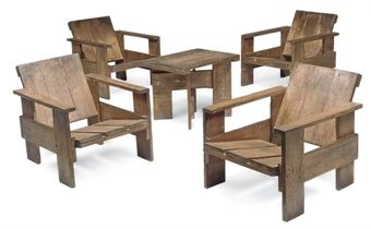 GERRIT RIETVELD   SUITE OF 'CRATE' LOUNGE FURNITURE, 1934