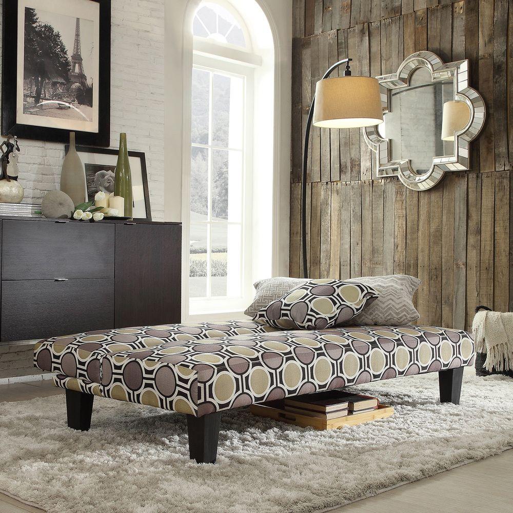 Bento Polka-dot Style Fabric Modern Mini Futon Sofa Bed | Overstock.com  Shopping