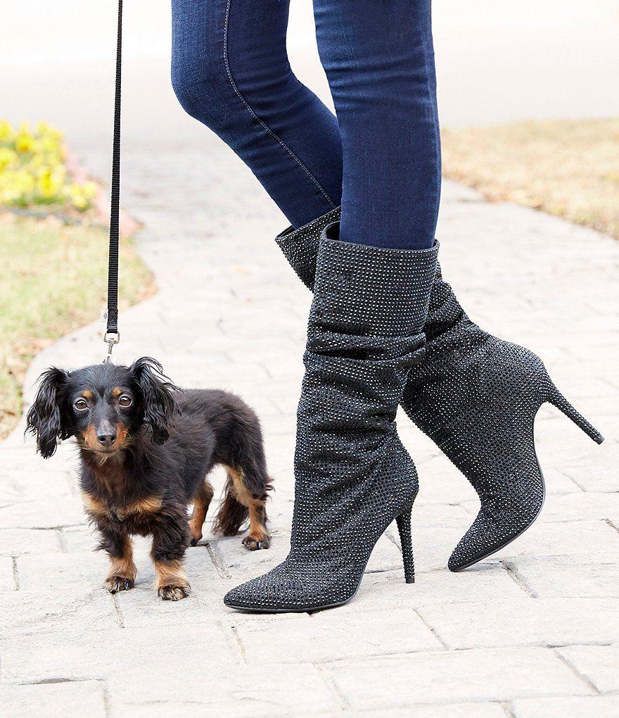 196bc85f39f Pewter Multi Jessica Simpson Layzer Rhinestone Slouch Boots