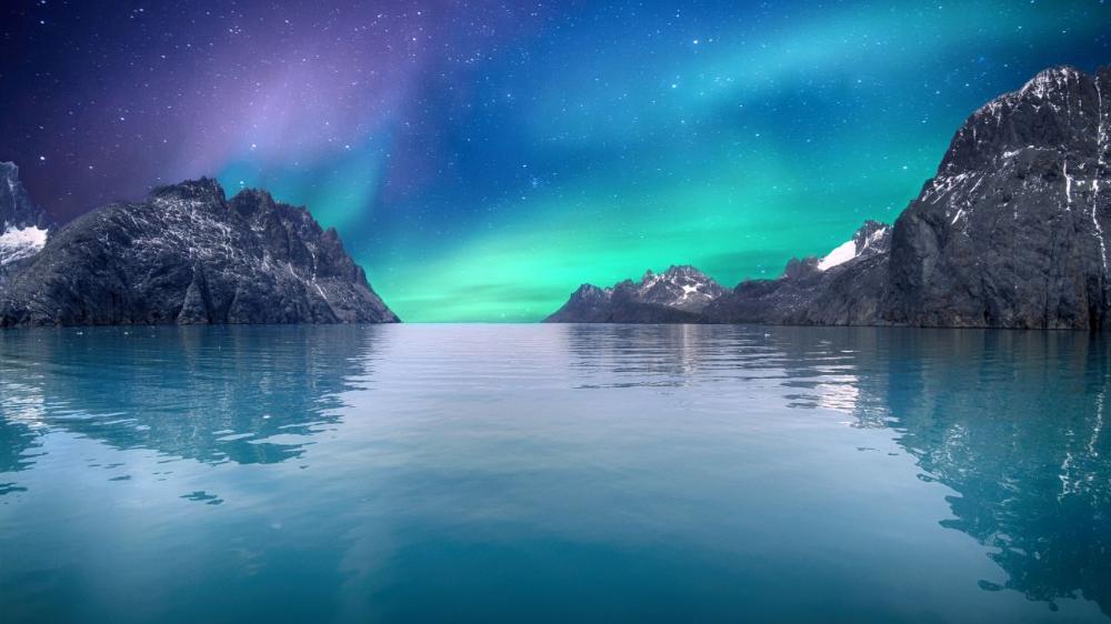 Wallpaper Aurora Borealis Northern Lights Seascape 4k 8k Nature 17682 Aurora Boreal Paisagens Aurora