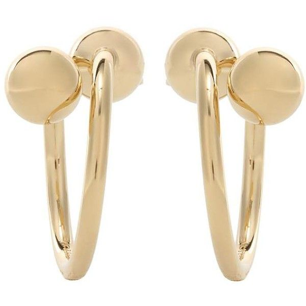 JW Anderson Double Ball Hoop Earrings 960 BRL ❤ liked on