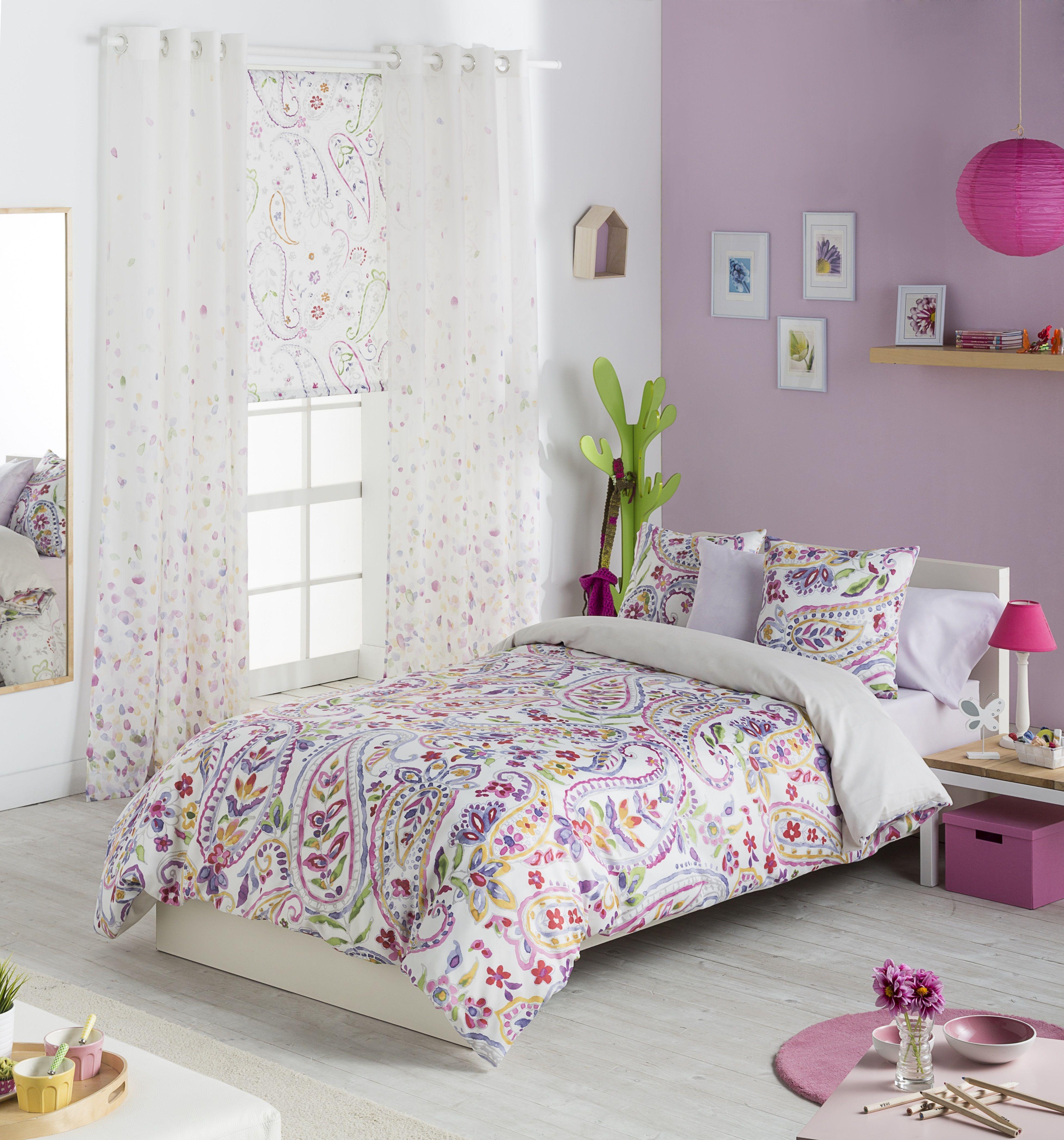 Telas scenes con estampado pasley idea para habitaci n for Habitaciones juveniles chica