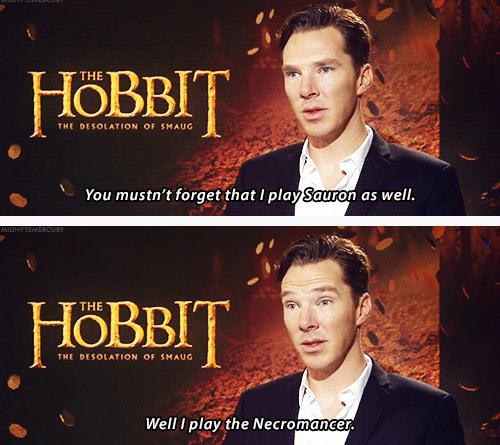 Benedict Cumberbatch Plays Sauron Tolkein Pinterest