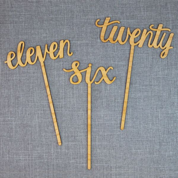 Image Of Script Table Numbers Gold Table Numbers Wedding Wood Table Numbers Diy Table Numbers