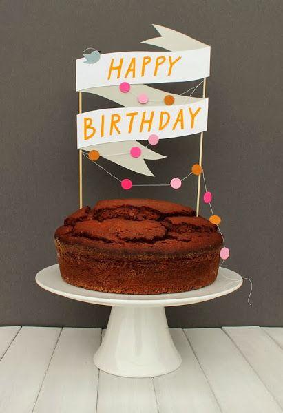 Mar Vi Blog Ideas Diy Adornos Para Tartas Faciles Y Originales Birthday Cake Toppers Diy Cake Topper Happy Birthday Cakes