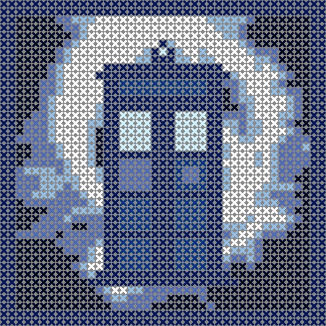 Tardis in vortex, cross stitch pattern, would be great as an ...